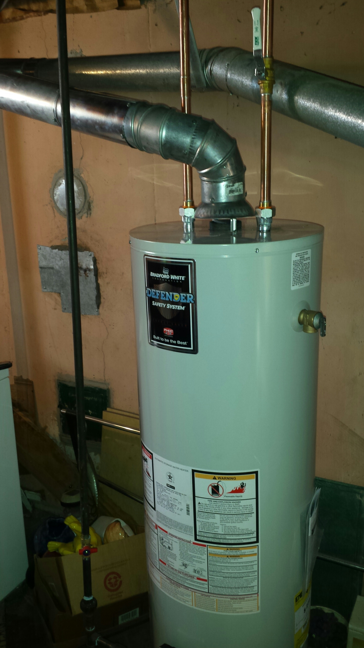 Southgate, MI - Hot water heater install