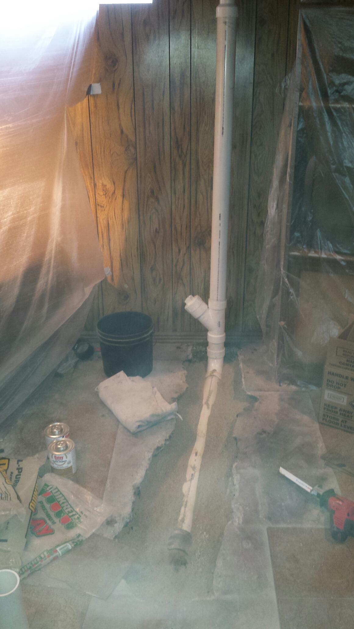 Wyandotte, MI - Floor BreakRepairs made to underground kitchen drain line.