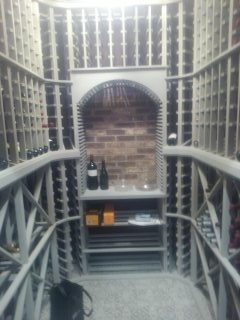 Chatham Township, NJ - Wine room with custom wine racks