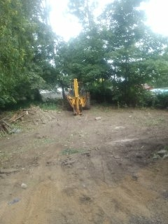Madison, NJ - Land clearing for a new construction project