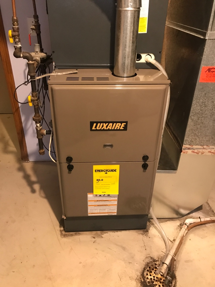 Big Lake, MN - Luxaire furnace install