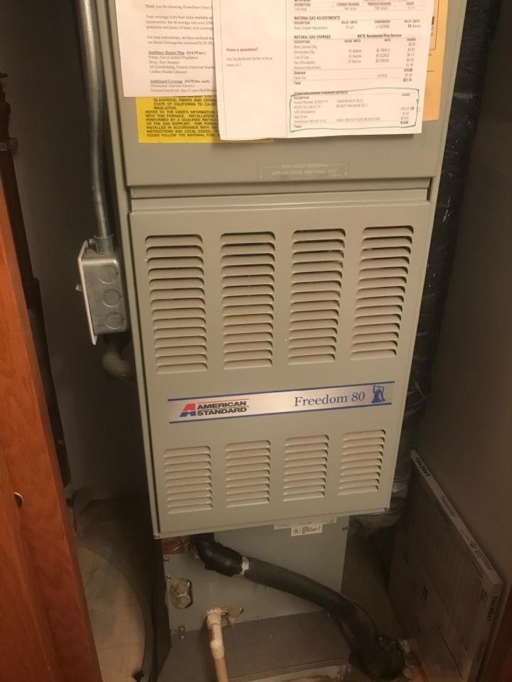 Becker, MN - American standard furnace check