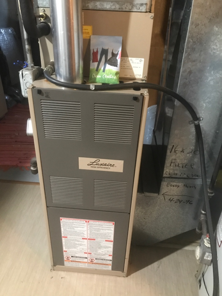 Cambridge, MN - Luxaire furnace tuneup