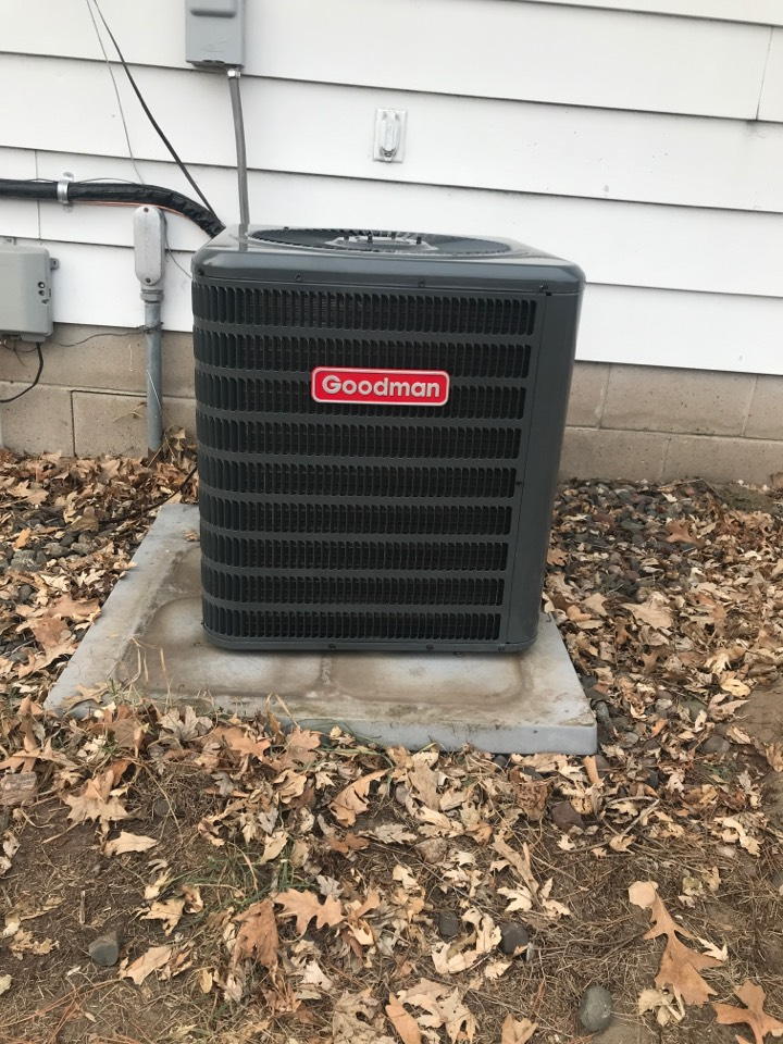 Princeton, MN - Goodman air conditioner and Liz air furnace install