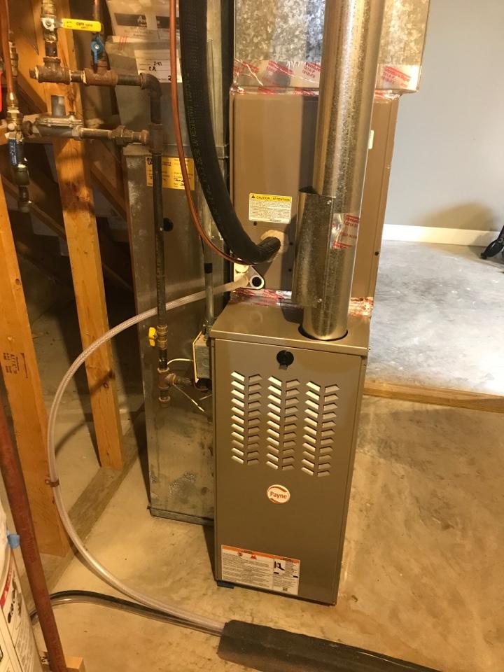 Big Lake, MN - Payne furnace installed