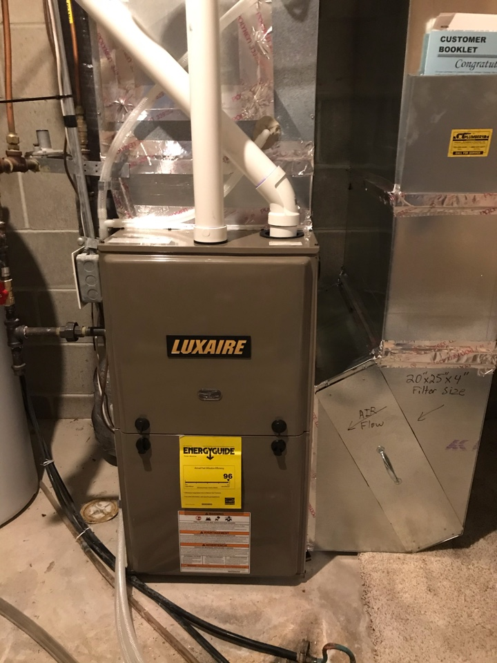 New Luxaire furnace installed