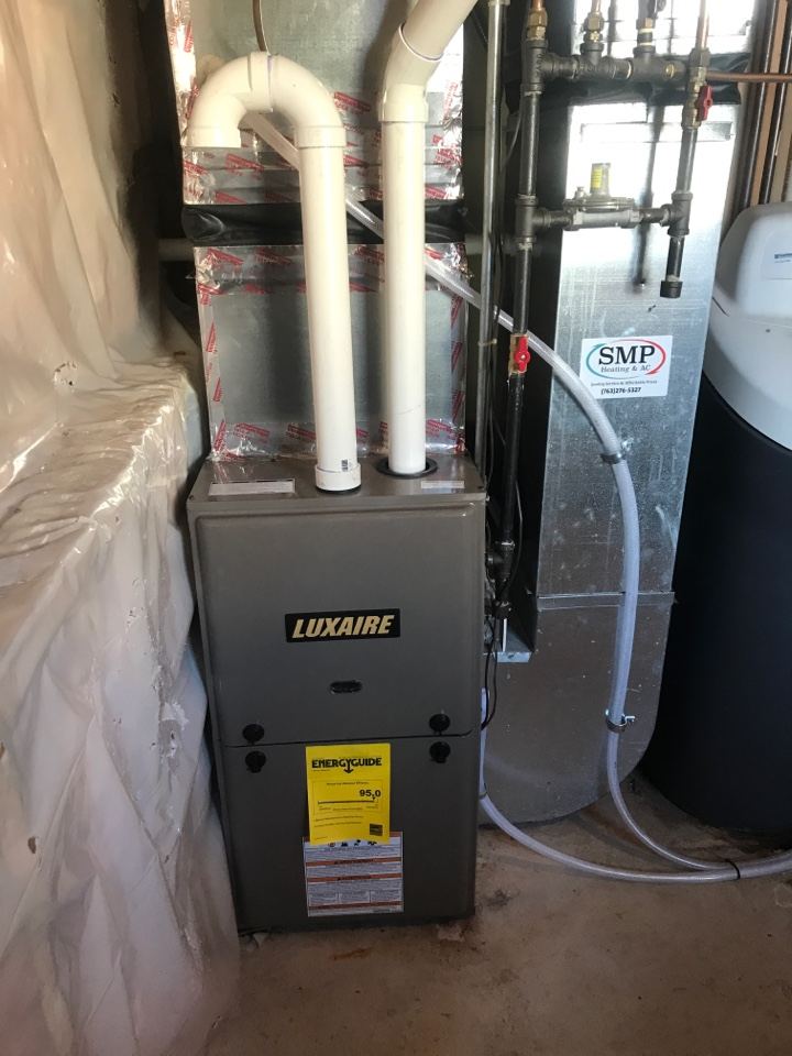 Princeton, MN - Luxaire furnace install