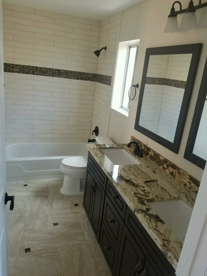 Las Vegas, NV - finishing remodel of bathroom for a family in las vegas near unlv, las vegas handyman las vegas remodel las vegas renovation