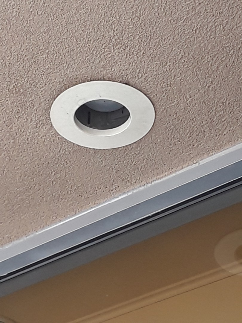 Repair trim rings on soffit lighting
