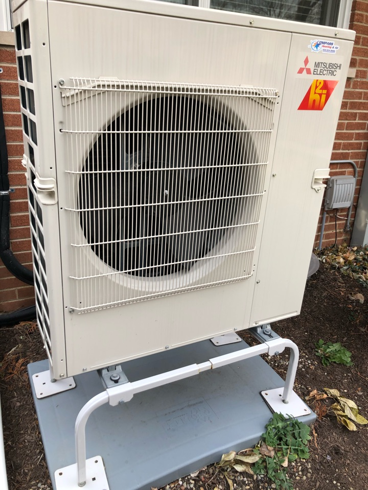 Arlington Heights, IL - Repairing a Mitsubishi ductless heat pump, in Arlington Heights, IL