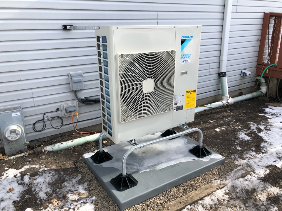 Commissioning a Daikin VRV Life heat pump, in Maple Park, IL 60151; system replaced an all electric heated home, providing 40-60% utility savings.