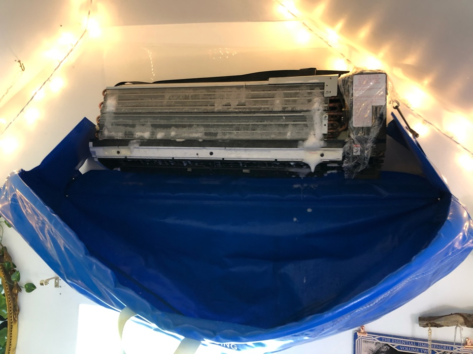 Aurora, IL - Hydro Clean- deep cleaning a ductless heat pump air conditioner, in Aurora, IL