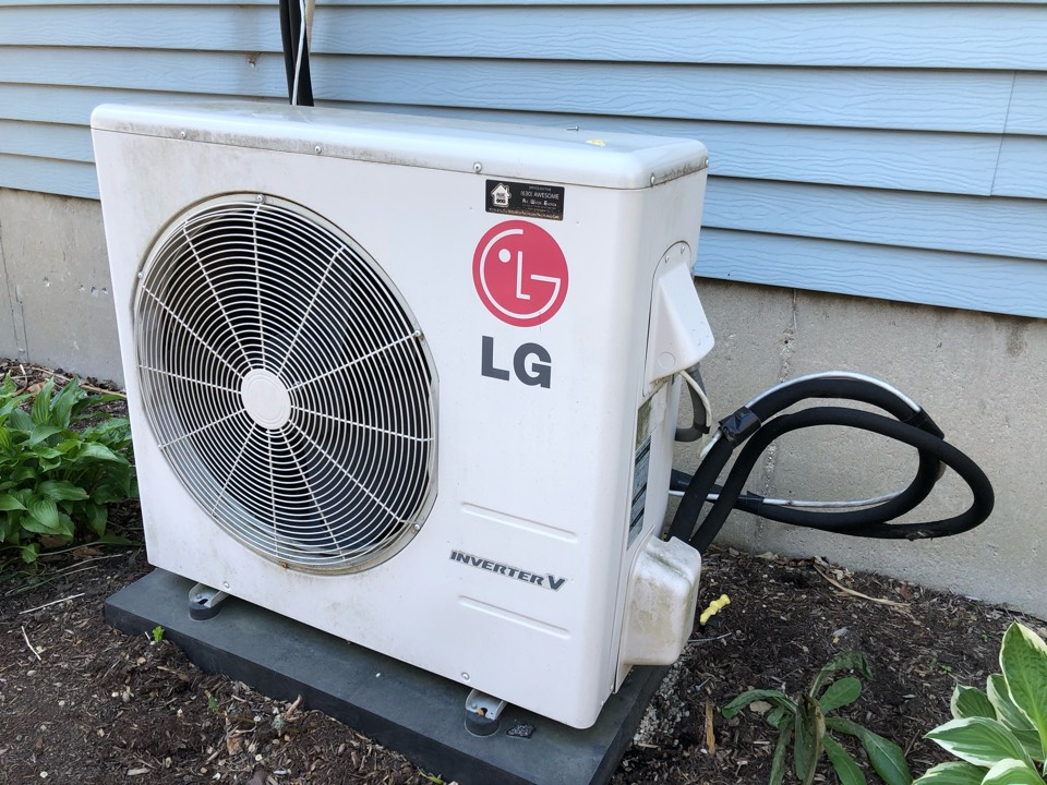 Lombard, IL - Providing an estimate to replace a LG ductless air conditioner, in Lombard, IL 60148.