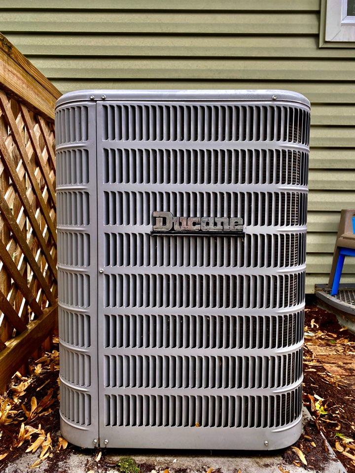 Schaumburg, IL - Air conditioning clean and check on a Ducane unit.