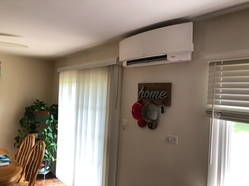 Performing a post installation quality inspection on a Daikin 4 zone ductless system, in Round Lake, IL 60073