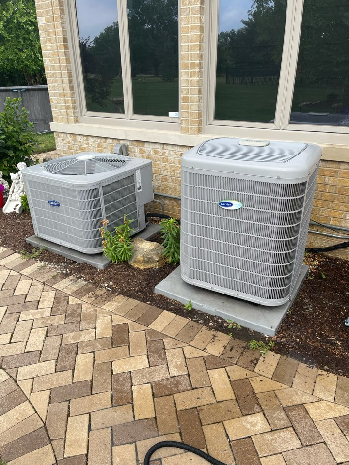 St. Charles, IL - AC cleaning for 2 carrier units