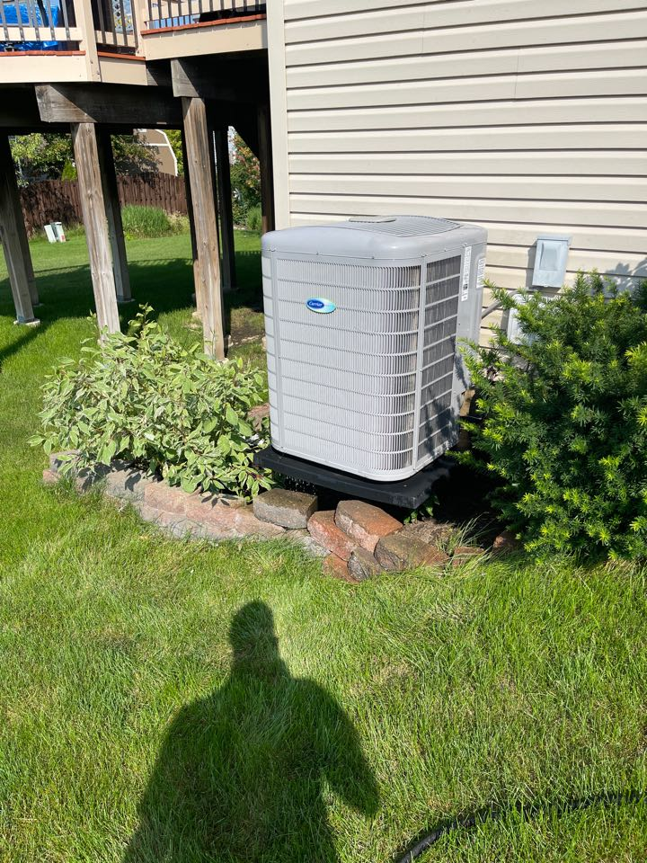 AC cleaning for a carrier unit