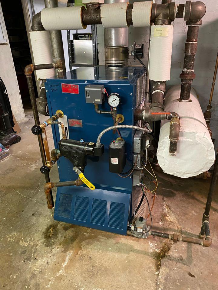 Villa Park, IL - Repairing a Utica steam boiler, in Villa Park, IL.