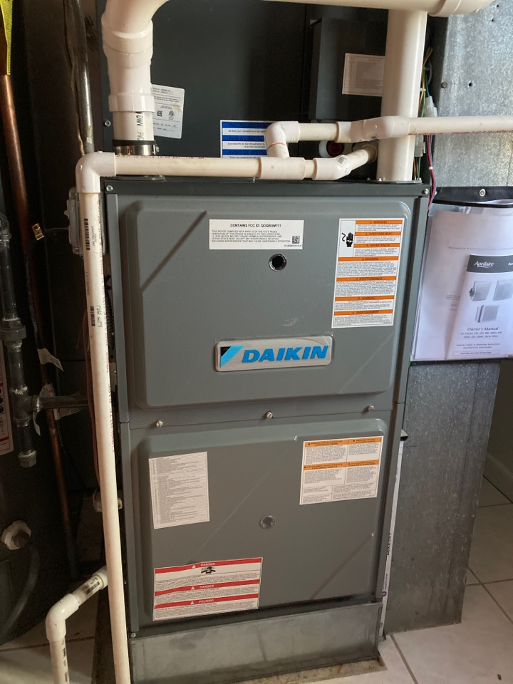 Furnace clean and check on a Daikin unit