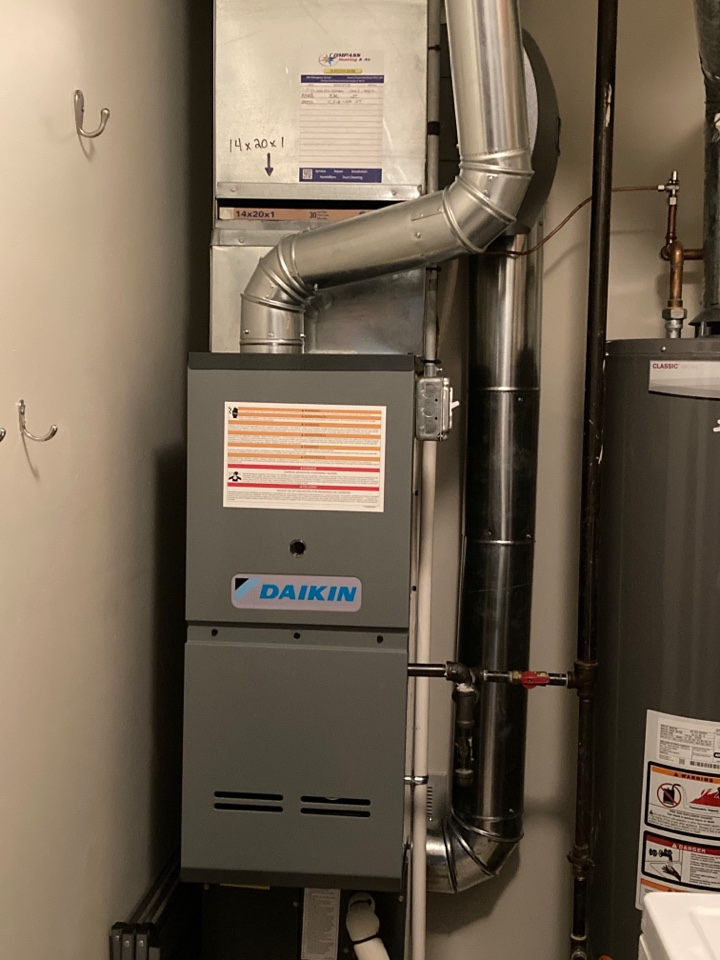 Furnace clean and check on a Daikin unit.