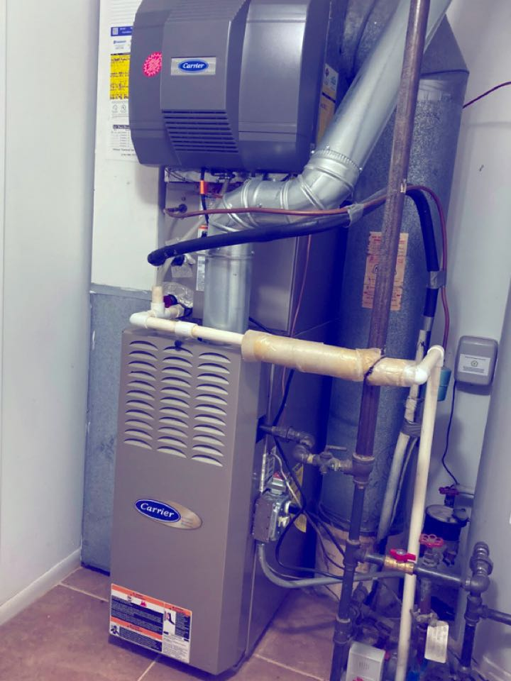 Furnace clean and check on a Carrier unit.