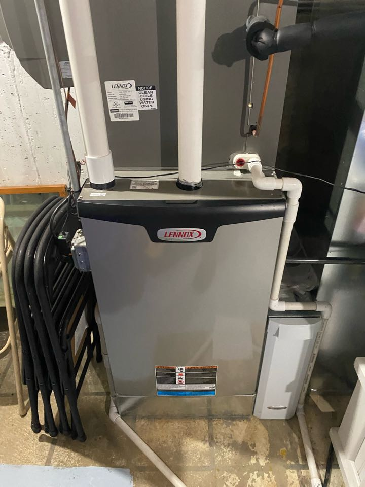 Furnace cleaning on a Lennox system