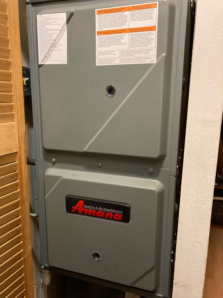 Furnace clean and check on an Amana unit