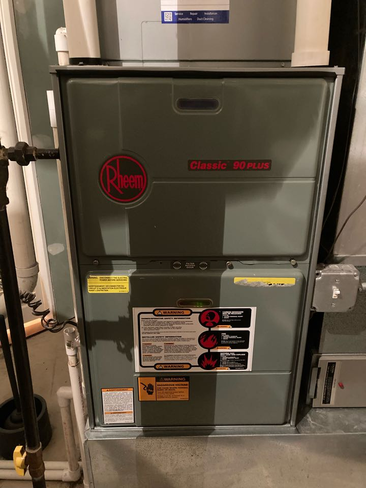 Furnace clean and check on a Rheem unit