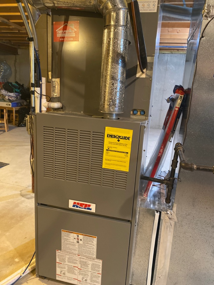 Furnace clean and check on a Heil unit
