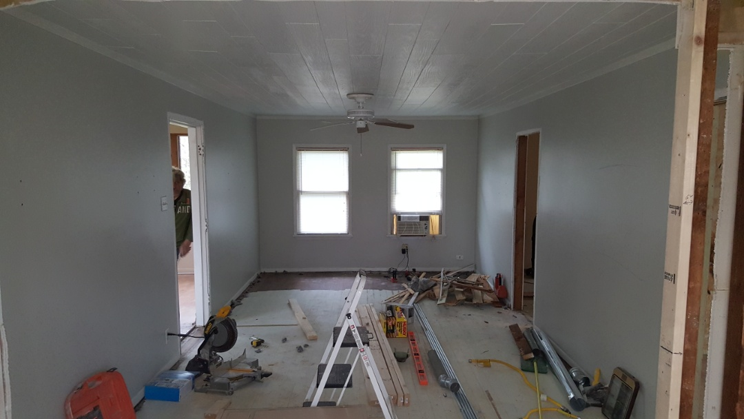 Lake Villa, IL - Working with customer's project team, incorporating Mitsubishi ductless heating and cooling, during the complete rehab of her lake house.