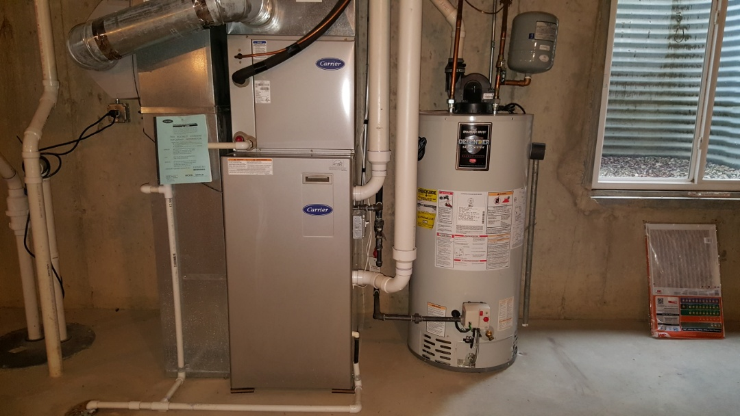 South Barrington, IL - Inspecting Carrier furnace and air conditioner for new home owner in South Barrington, IL 60010.