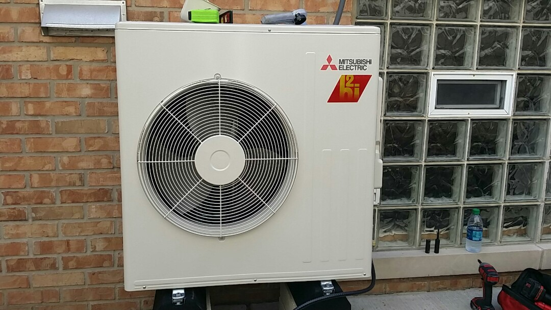 Chicago, IL - Install Mitsubishi heat pump Chicago