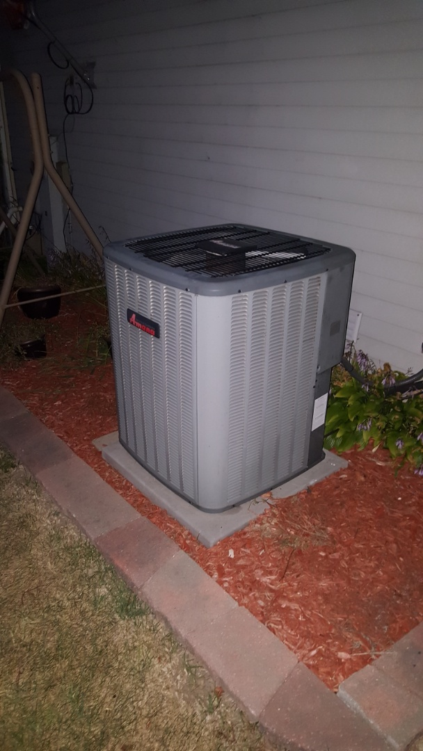 Carol Stream, IL - Repairing an Amana air conditioner in Carol Stream, IL. Broken contactor covered under warranty