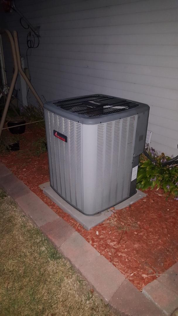 Carol Stream, IL - Repairing an Amana air conditioner in Carol Stream, IL. Broken contactor covered under warranty