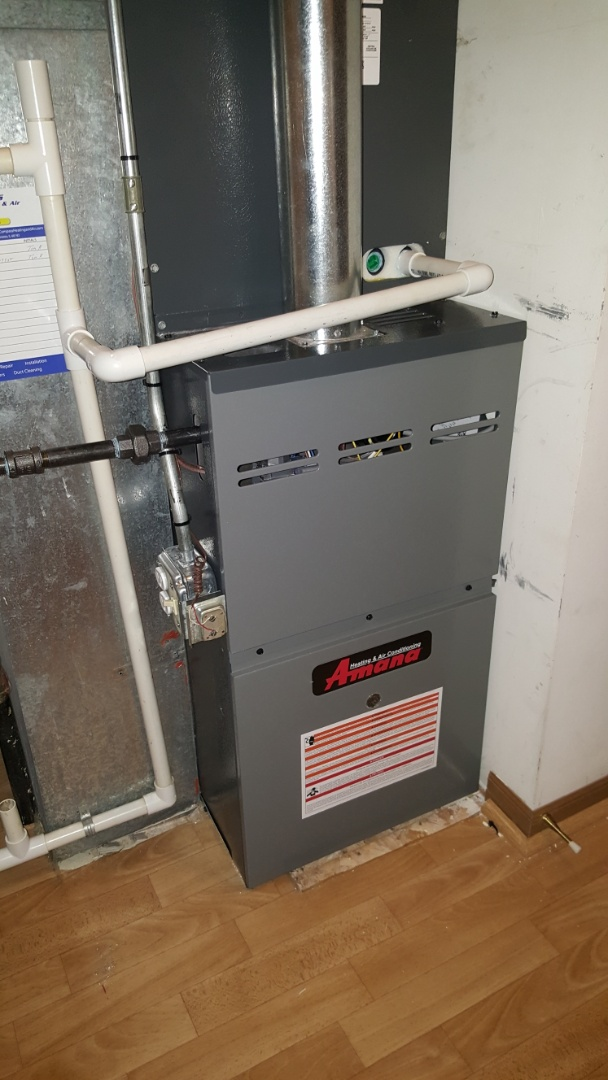 Streamwood, IL - Installing an Amana 80% 2- stage variable speed furnace and Aprilaire 8920W thermostat in Streamwood, IL 60107