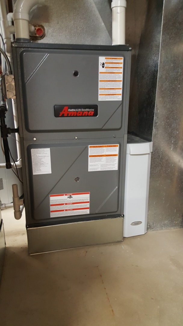Wayne, IL - Installing a pair of Amana  96% 2- stage, variable speed high efficiency furnaces in Wayne, IL 60184