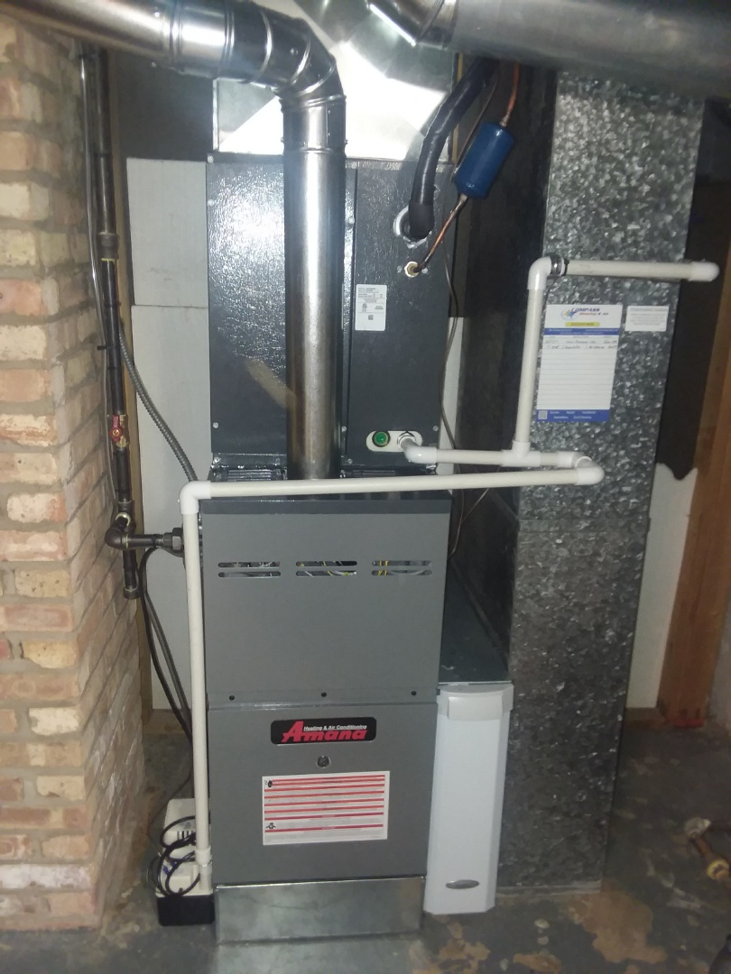 Mount Prospect, IL - New 80% Amana furnace and A/C and aprilaire air filter in My Prospect