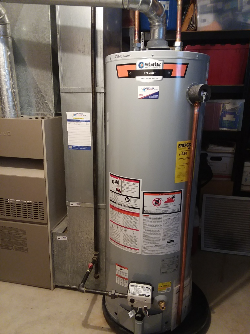 Fox River Grove, IL - Installing new State 40 gallon hot water heater in Fox River Grove