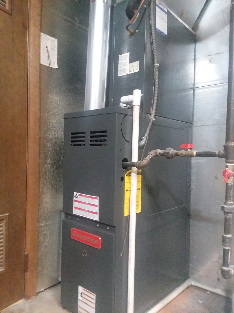 Schaumburg, IL - Goodman Furnace  2 stage heat 80%  Clean and Check  Compass Heating And Air