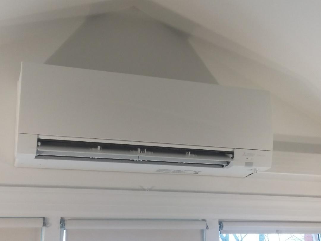 Barrington, IL - Install Mitsubishi heat pump in Barrington on the third floor
