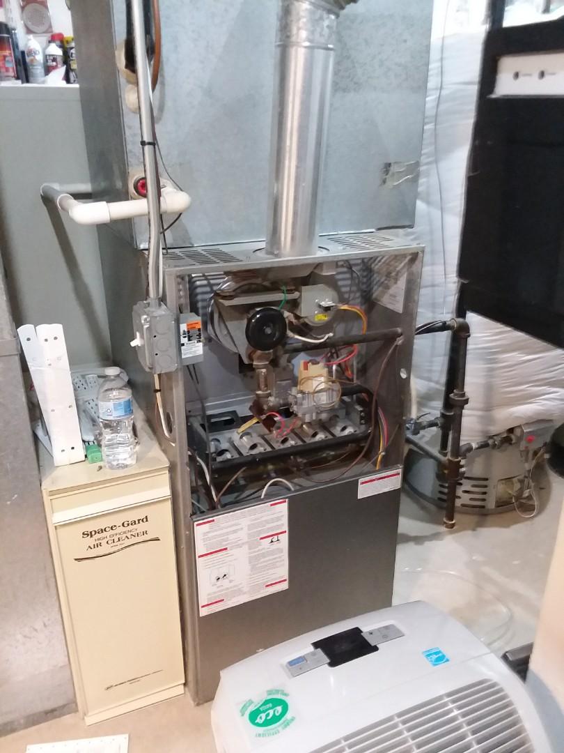 Bartlett, IL - Starting HVAC inspection  for potential new home buyer in Bartlett Illinois