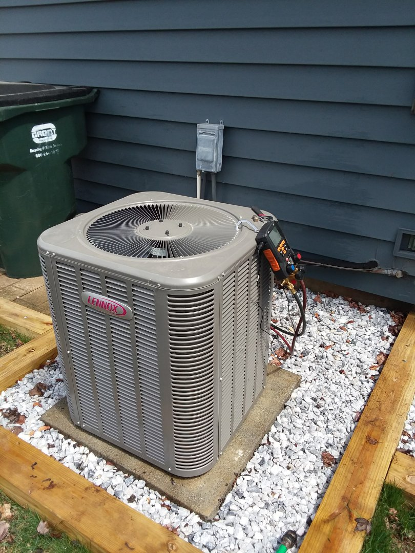 Hoffman Estates, IL - Starting manufacturer recommended annual maintenance on Lennox air conditioner model 13ACXN03023019 Near Hoffman Estates IL