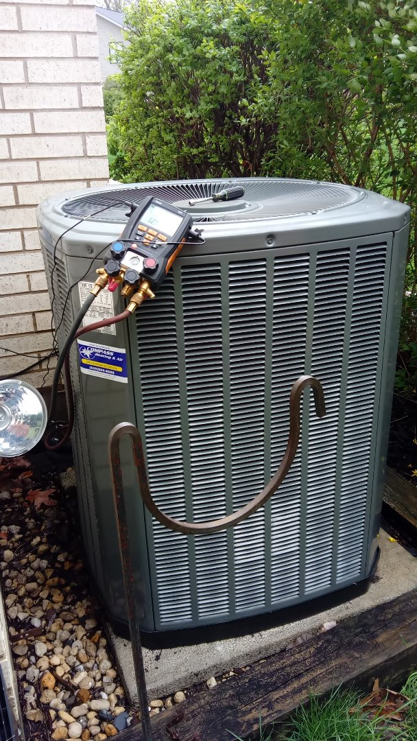 Rolling Meadows, IL - Starting manufacturer recommended annual maintenance on Trane Air Conditioner near Wooddfield Mall   Compass Heating and Air Conditioning