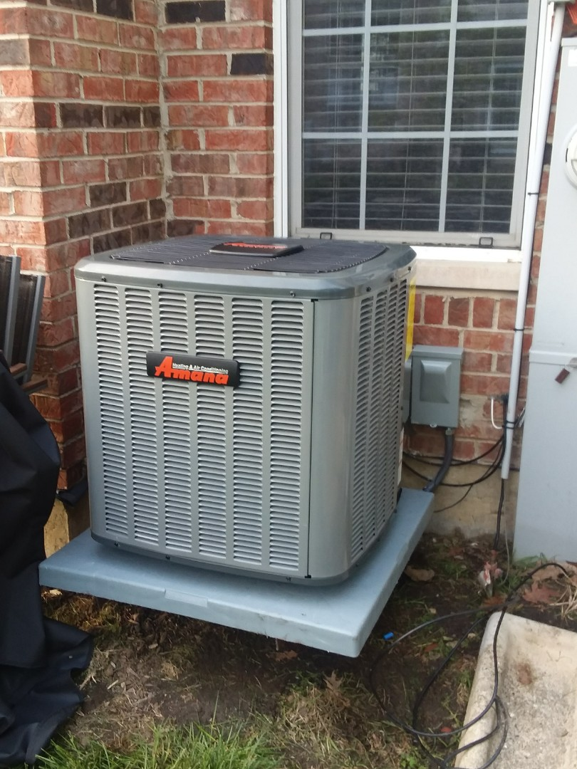 Hoffman Estates, IL - Installing a new Amana 13 seer A/C system to improve comfort and efficiency in Hoffman estates.