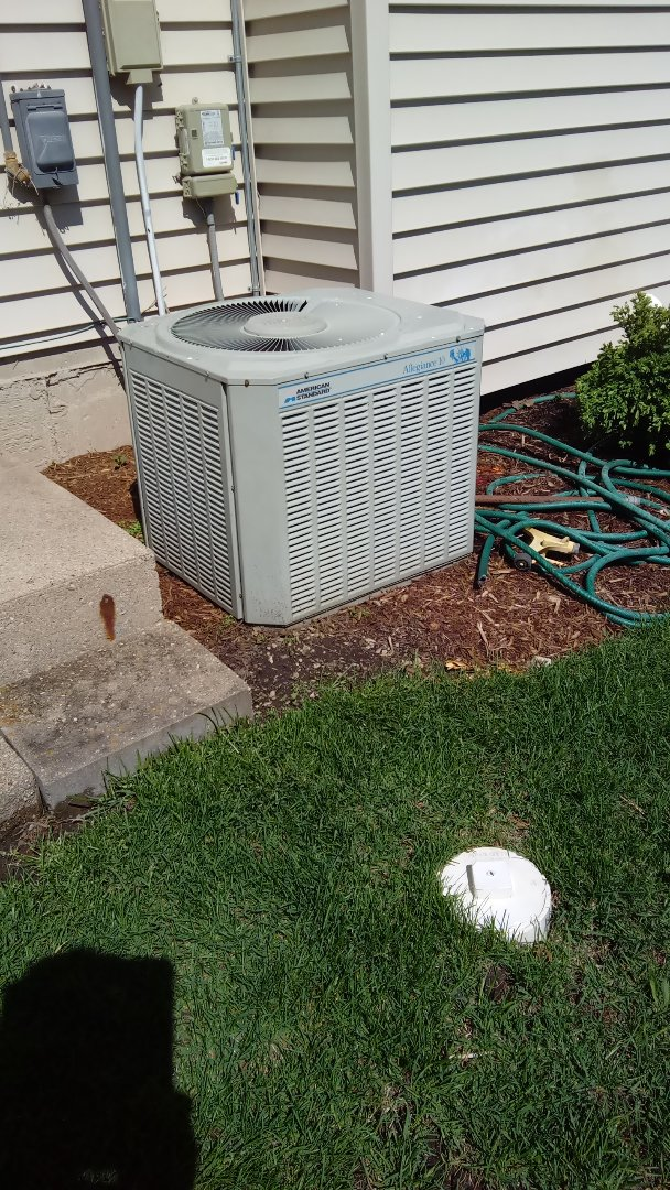 Palatine, IL - Starting inspection of HVAC equipment for new home buyer in Palatine