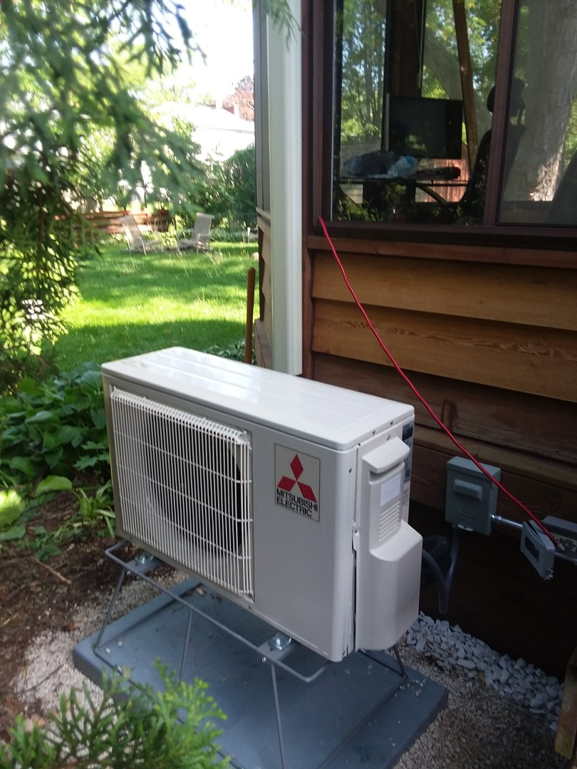 Arlington Heights, IL - Installing a new Mitsubishi  system in a gazebo in Arlington heights.