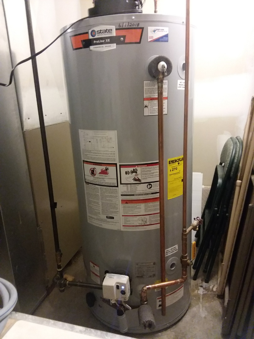 Hawthorn Woods, IL - Installing another high efficient 75 gallon water heater for a family in Hawthorne woods.