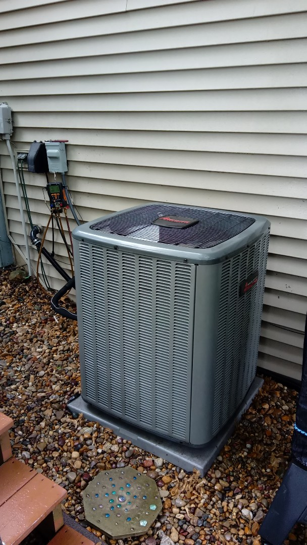 Elgin, IL - Starting manufacturer recommended annual maintenance on Amana air conditioner