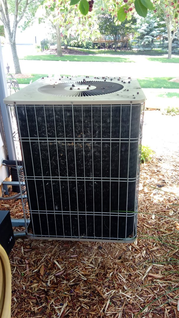 West Chicago, IL - Starting manufacturer recommended annual maintenance on Armstrong Air Conditioner