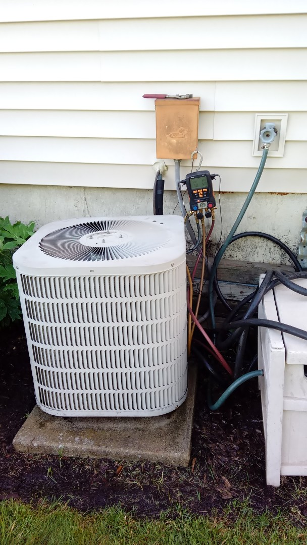 Bartlett, IL - Starting manufacturer recommended annual maintenance on Goodman air conditioner